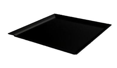 "G.E.T. Enterprises ML-244-BK Siciliano Black 24"" Square Display Plate"