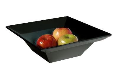 G.E.T. Enterprises ML-245-BK Siciliano Black 3.8 Qt. Square Bowl 12""
