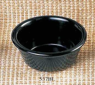 Thunder Group ML537BL Black Melamine 3 oz. Smooth Ramekin 3-1/8""