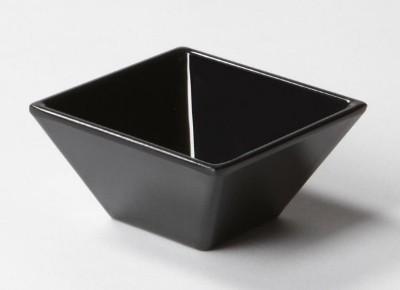 "G.E.T. Enterprises ML-257-BK Siciliano Black 3 oz. Square Petite Bowl, 3"""
