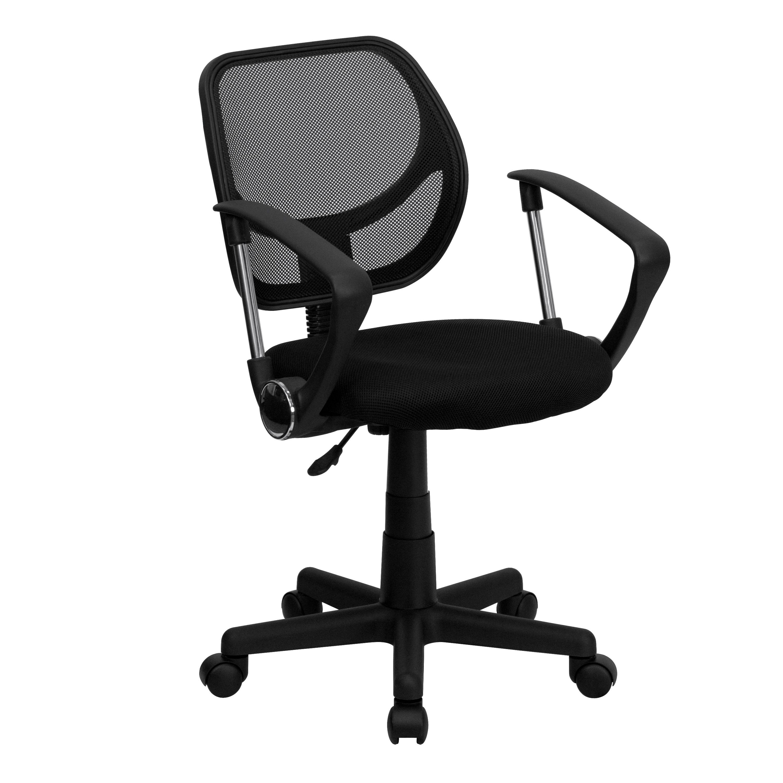 Flash Furniture WA-3074-BK-A-GG Black Mesh Computer Chair with Arms