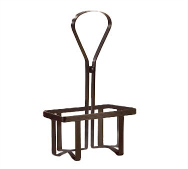 Black Metal Combo Rack For 2 Square Oil & Vinegar Dispensers (#600nbk)