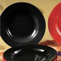 CAC China P-115BLK Festiware Black Pasta Bowl 25 oz.