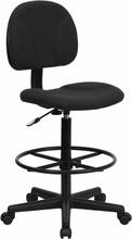 Flash Furniture BT-659-BLK-GG Black Patterned Fabric Ergonomic Drafting Stool