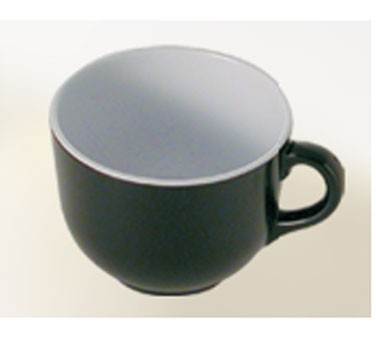 Thunder Group RF9475BW Black Pearl Two-Tone Melamine 24 oz. Soup Mug with Handle