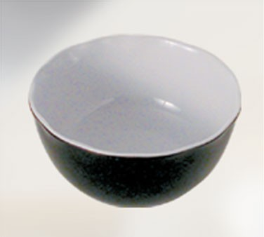 Thunder Group RF5112BW Black Pearl Two-Tone Melamine 5-1/2 Qt. Bowl 11-1/4""