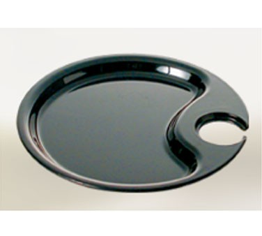 Black Pearl Black Melamine Round Party Platter - 10-1/2