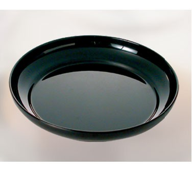 "Thunder Group RF1112B Black Pearl Round Salad Platter 12"""
