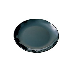 Thunder Group RF1010BW Black Pearl Two-Tone Round Dinner Plate 10-1/2""