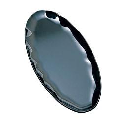 "Thunder Group RF2024B Black Pearl Black Oval Platter, 24"" x 10"""
