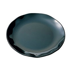 Thunder Group RF1018B Black Pearl Black Round Platter, 18""