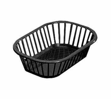 Black Plastic Rectangular Spoke Basket - 10-1/4