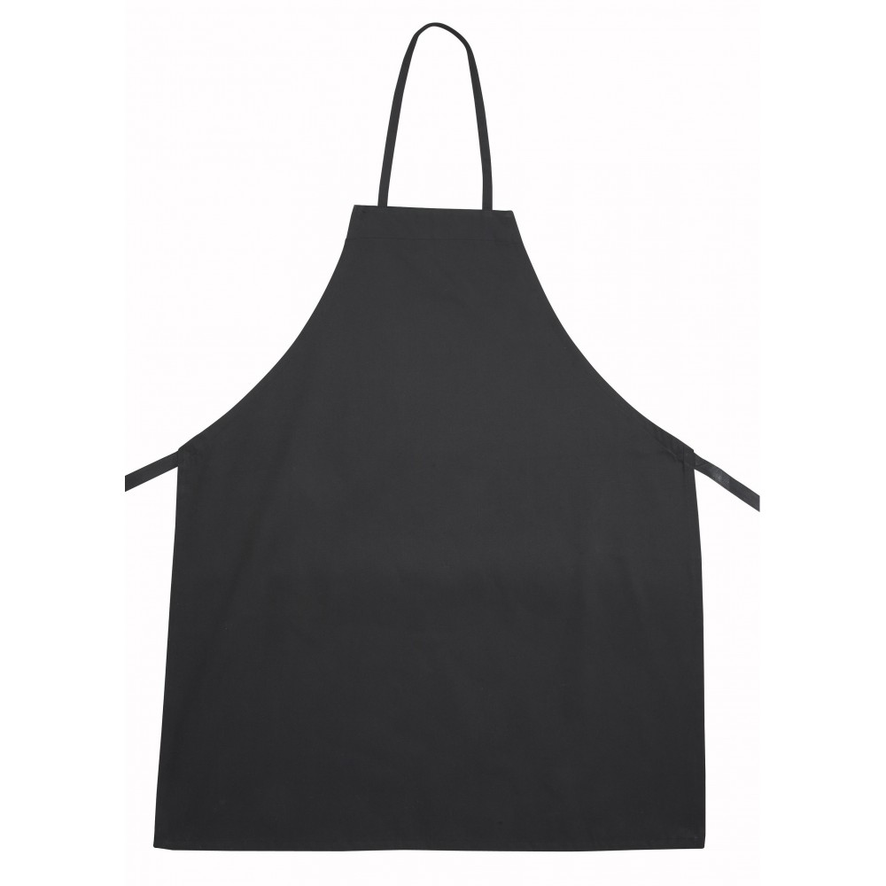 Black Poly/Cotton Bib Apron - 31 X 26-1/2