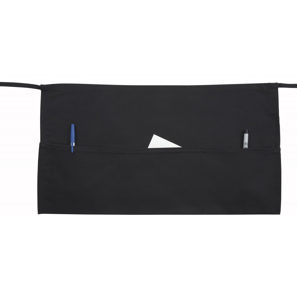Black Poly/Cotton Waist Apron - 22 X 12