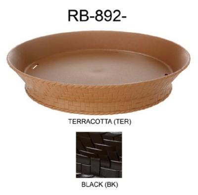 "G.E.T. Enterprises RB-894-BK Black Plastic 7-1/4"" Round Basket with Base"
