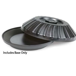 "G.E.T. Enterprises HCR-97-BK Black Polypropylene 9-1/2"" Insulated Base"