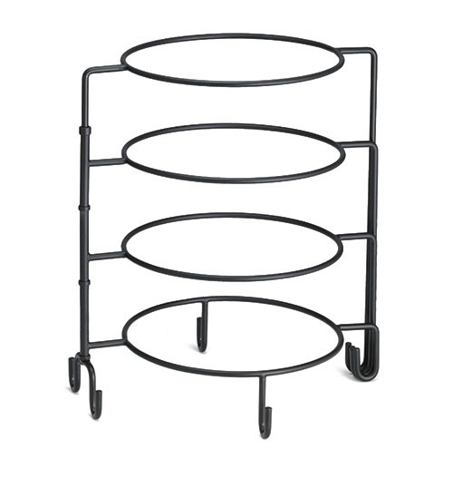 4 Tier Black Metal Display Stand