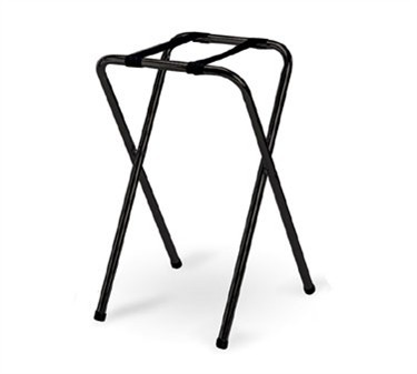 Black Powder-Coated Metal Tray Stand - 29-1/2