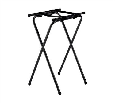 Black Powder Coated Metal Tray Stand With Double Bar - 31