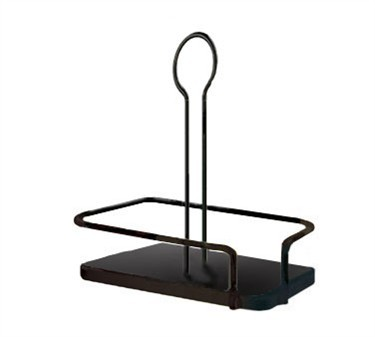 TableCraft 617RBK Black Powder Coated Rack for 12 oz. Oil & Vinegar Dispensers