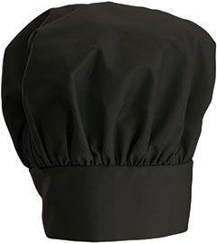 """Winco CH-13BK Black Professional Chef Hat, 13"""""""