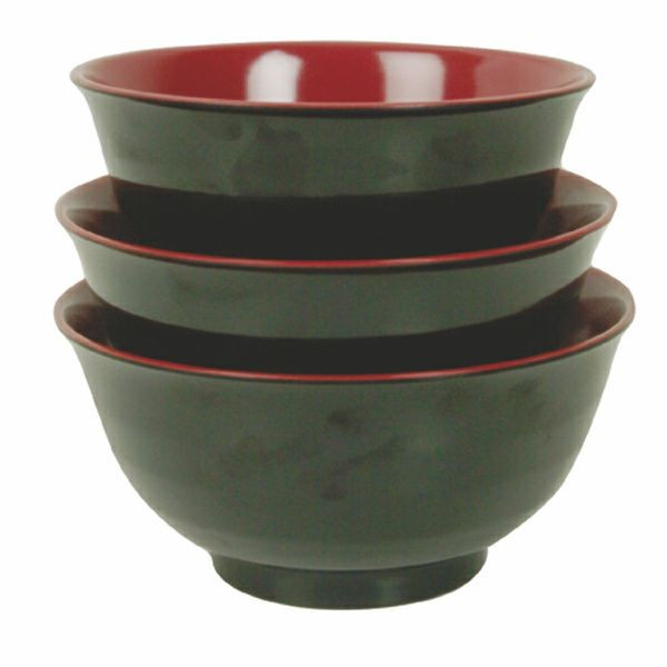 Thunder Group 5570JBR Two-Tone Melamine Soup Bowl 38 oz.