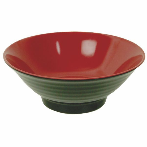 Thunder Group 5185JBR Two-Tone Asian Melamine Noodle Bowl 42 oz.