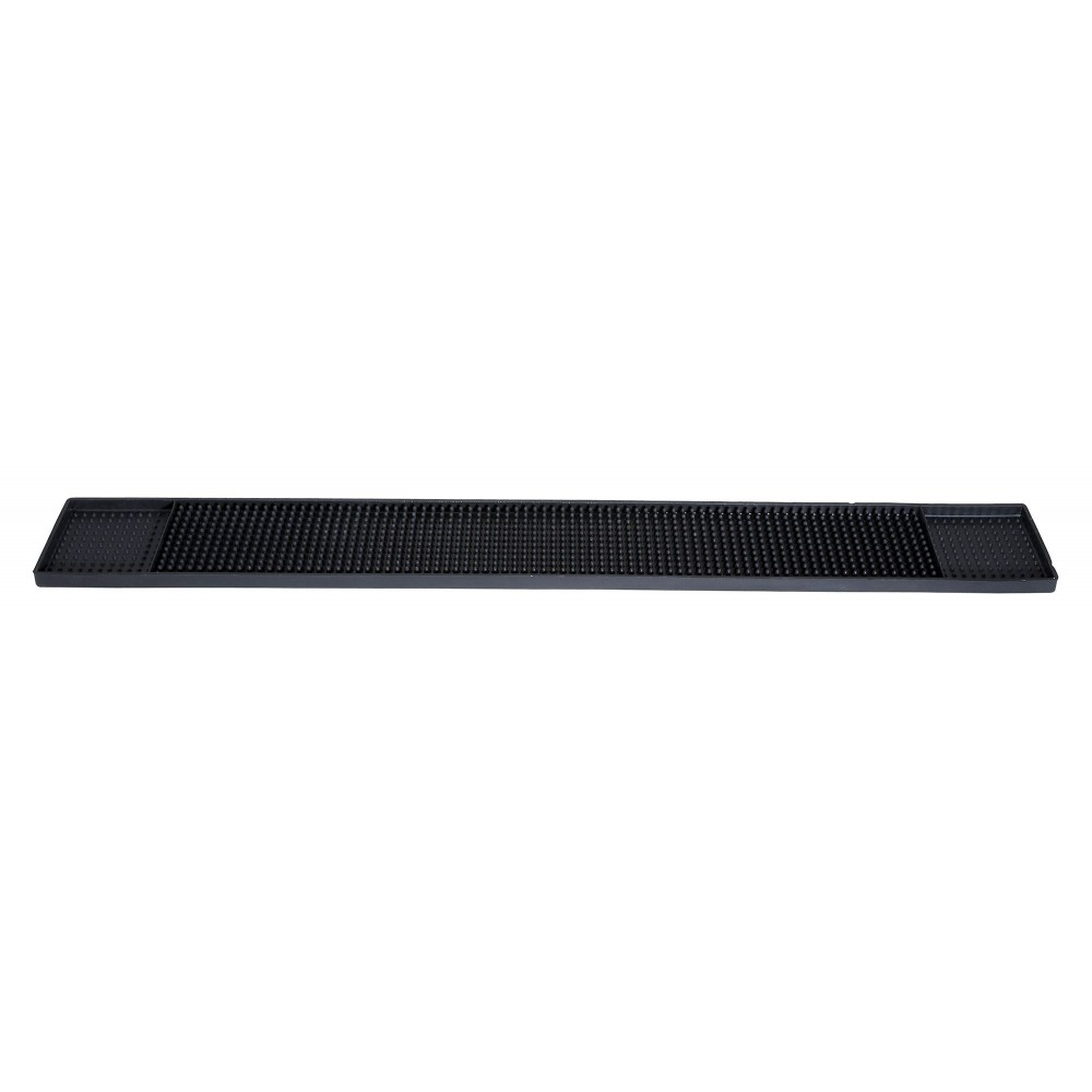 "Winco BM-327K Black Rubber Bar Mat 27"" x 3-1/4"""