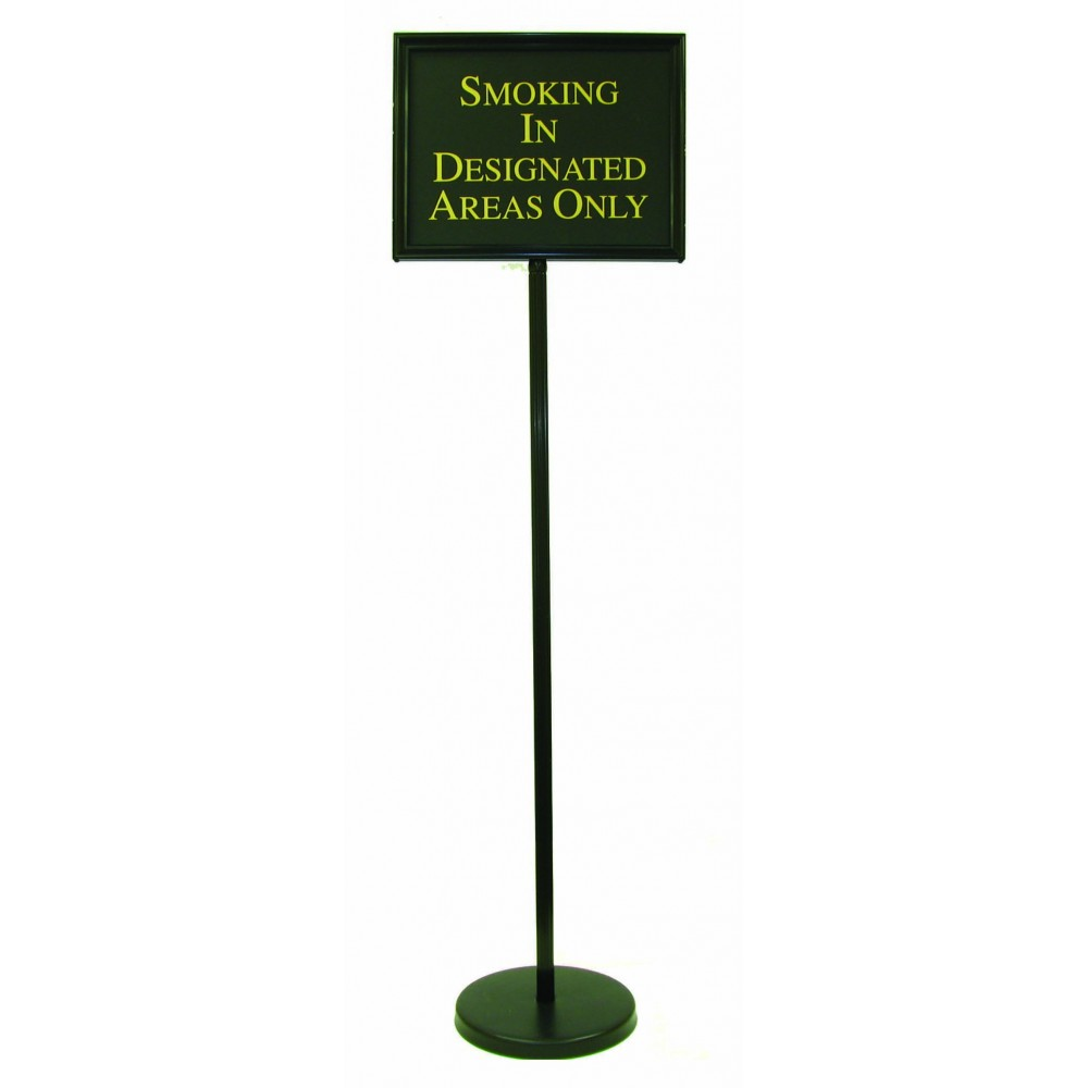 "Aarco Products TY-2BK Director Changeable Sign Stand with Black Frame 54""H"