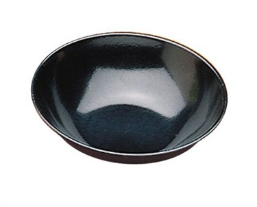 "TableCraft 252B Black Stackable Melamine Salad Bowl 5-3/4"" Dia. 11oz"