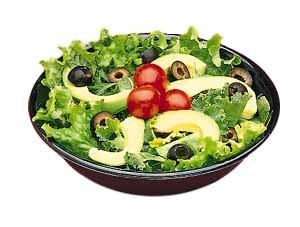 Black Stackable Melamine Salad Bowl - 8
