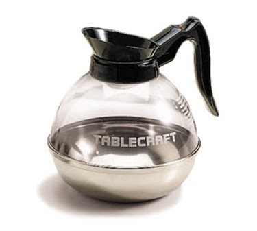 TableCraft 18 Coffee Decanter 64 oz. with Black Stainless Steel Base
