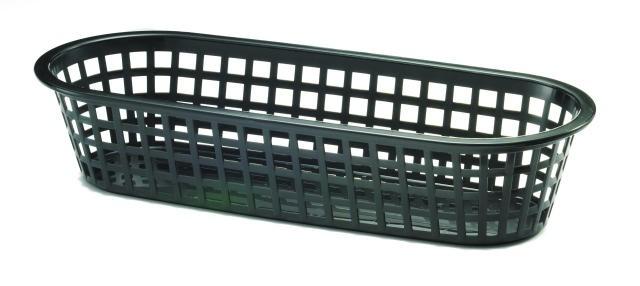 Black Sub Plastic Food Basket - 14