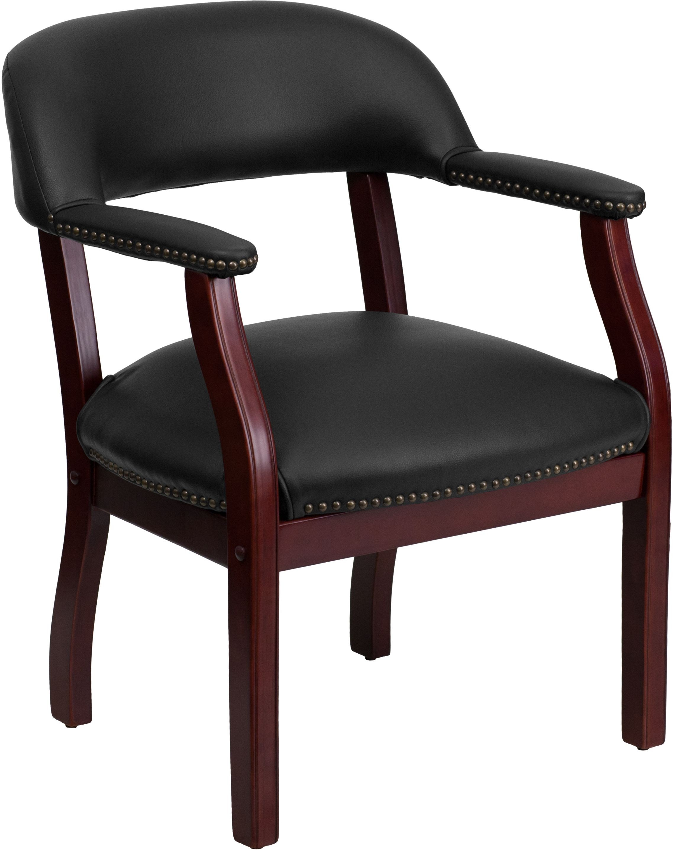 Flash Furniture B-Z105-BLACK-GG Black Vinyl Luxurious Conference Chair