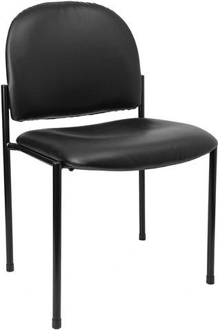 Flash Furniture BT-515-1-VINYL-GG Black Vinyl Steel Stacking Chair