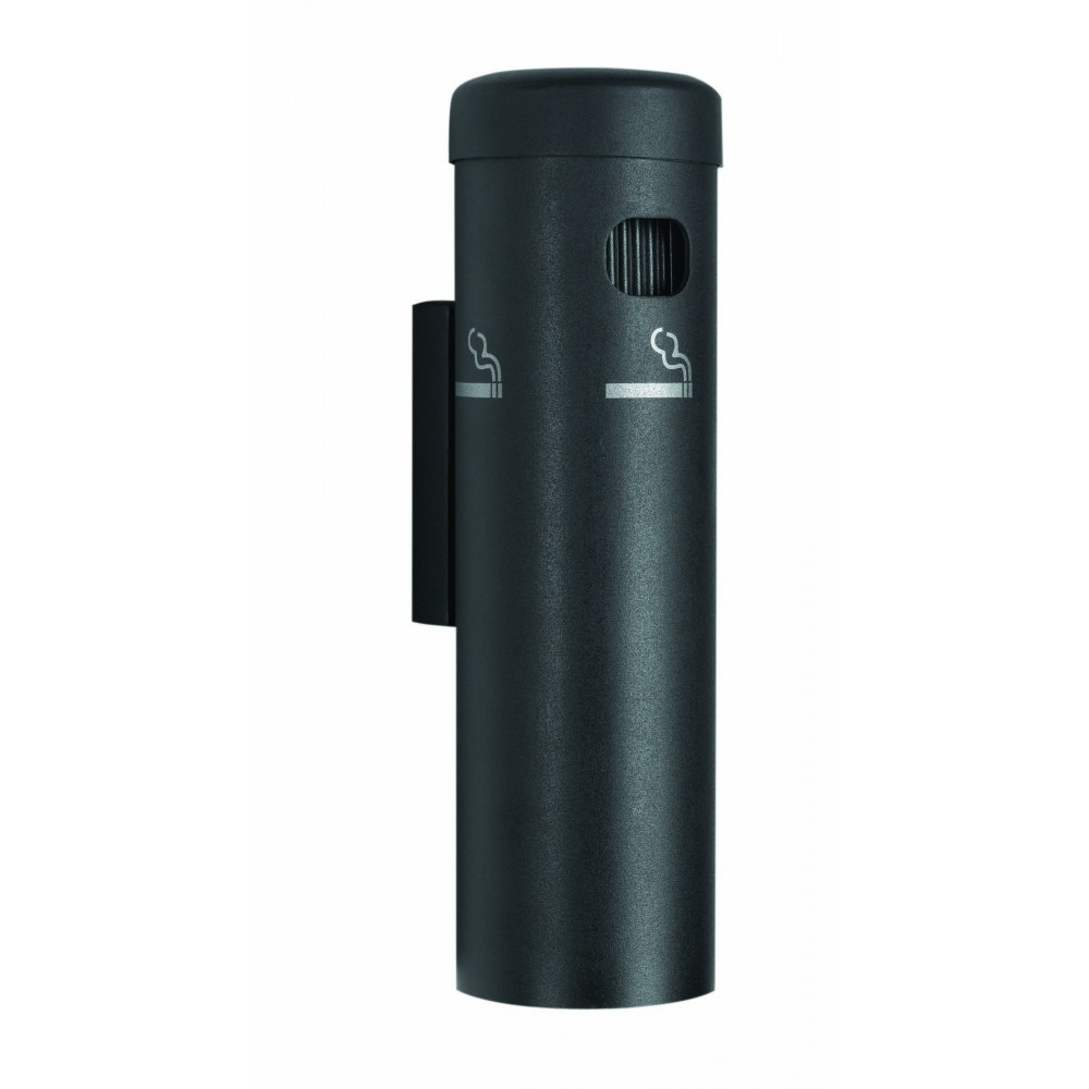 Black Wall Mounted Cigarette Receptacles