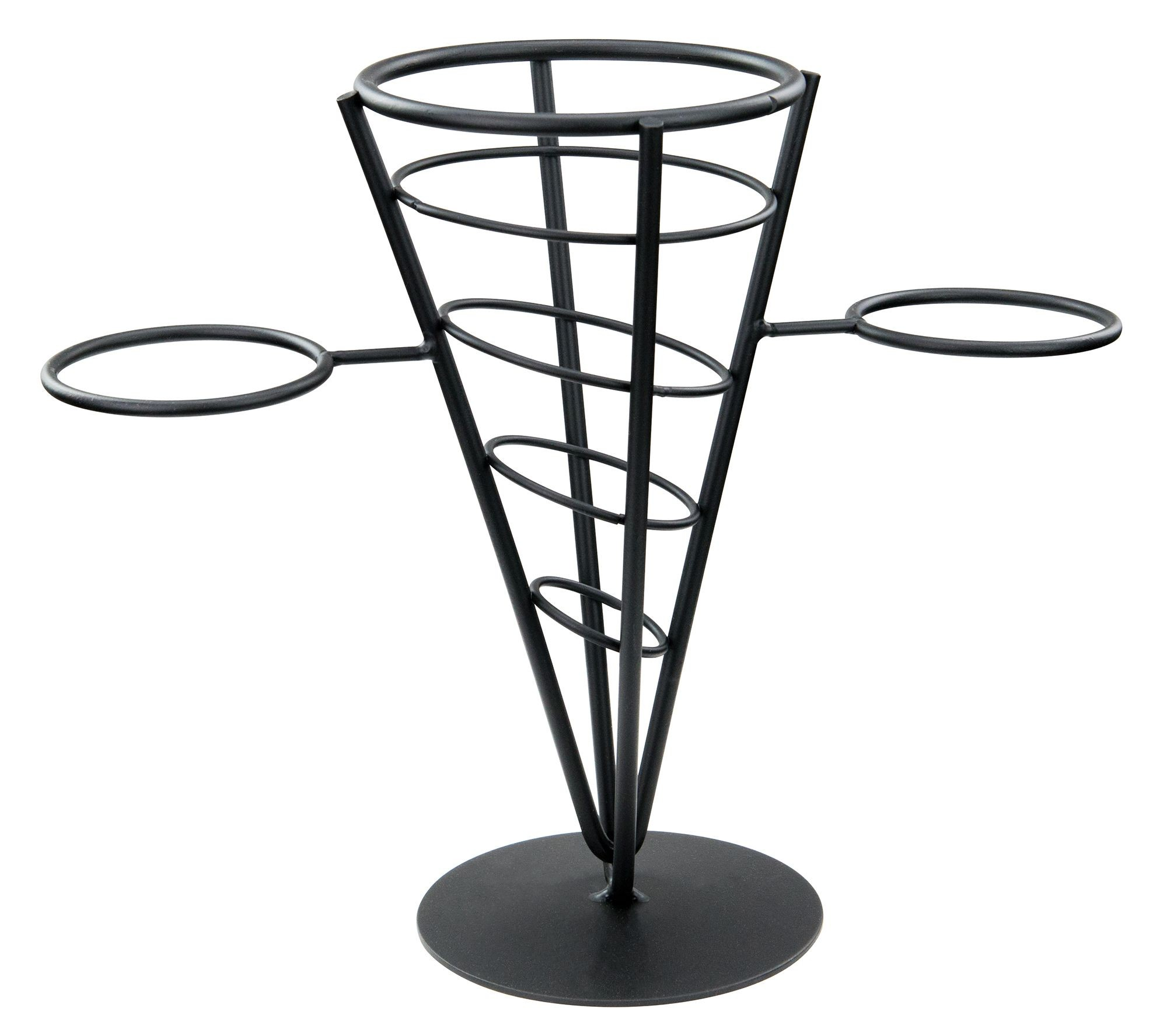 Winco WBKH-5 1-Cone Black Wire French Fry Holder