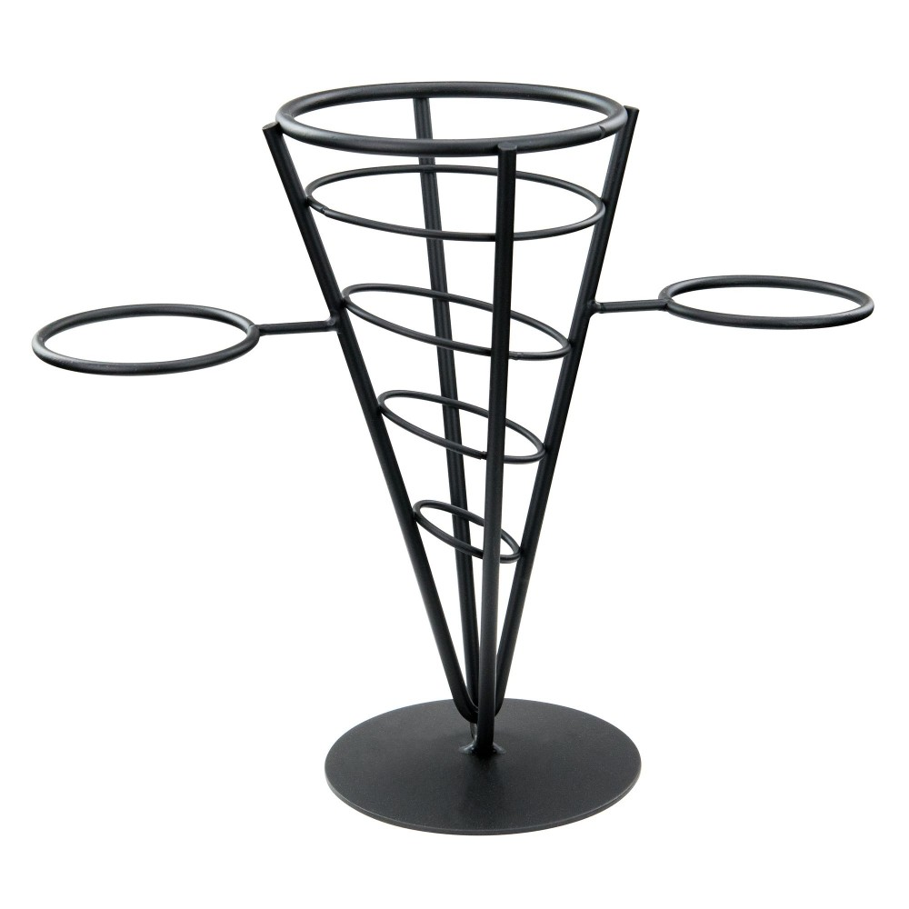 Black Wire 1-Cone French Fry Basket