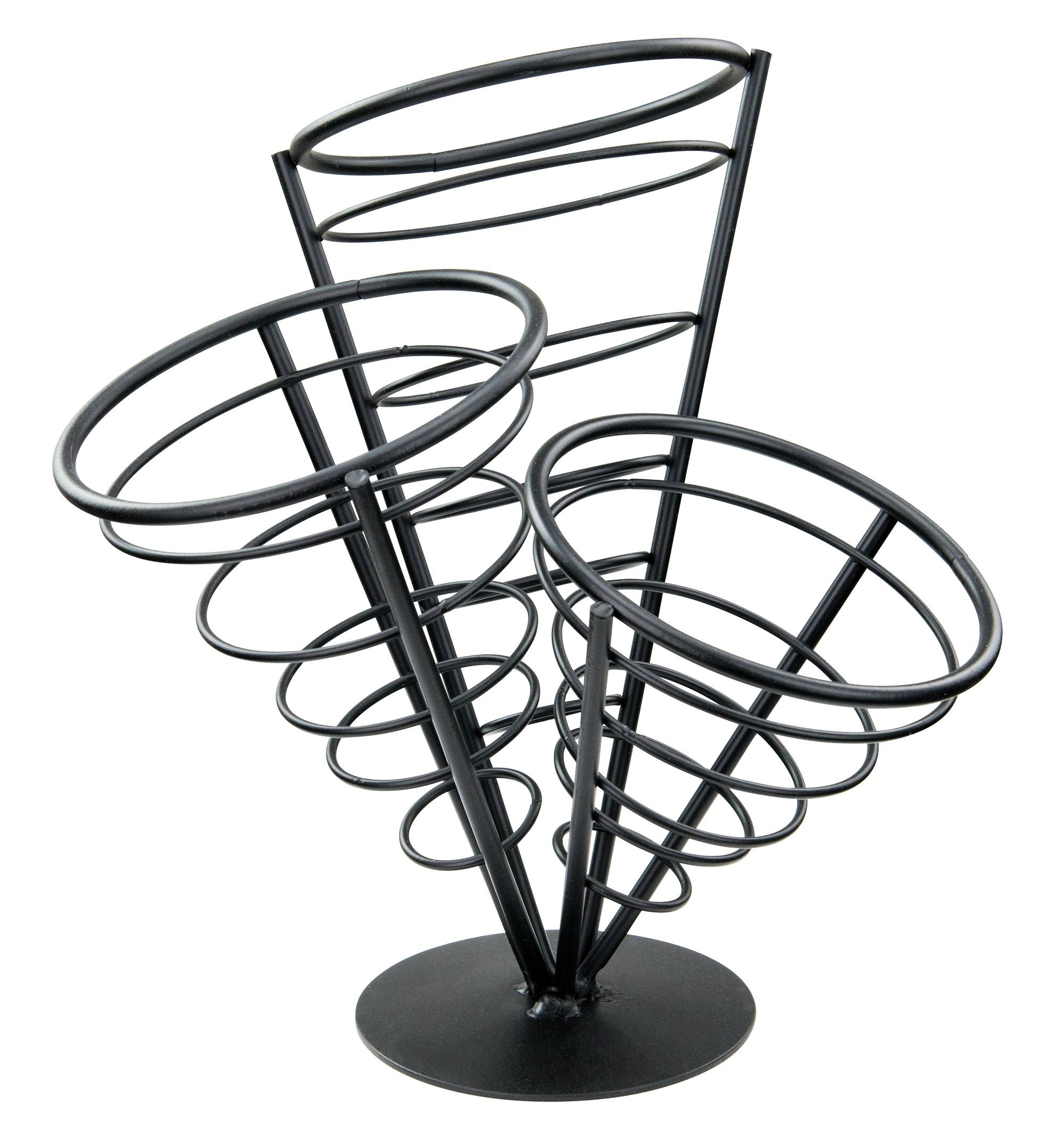 Black Wire 3-Cone French Fry Basket