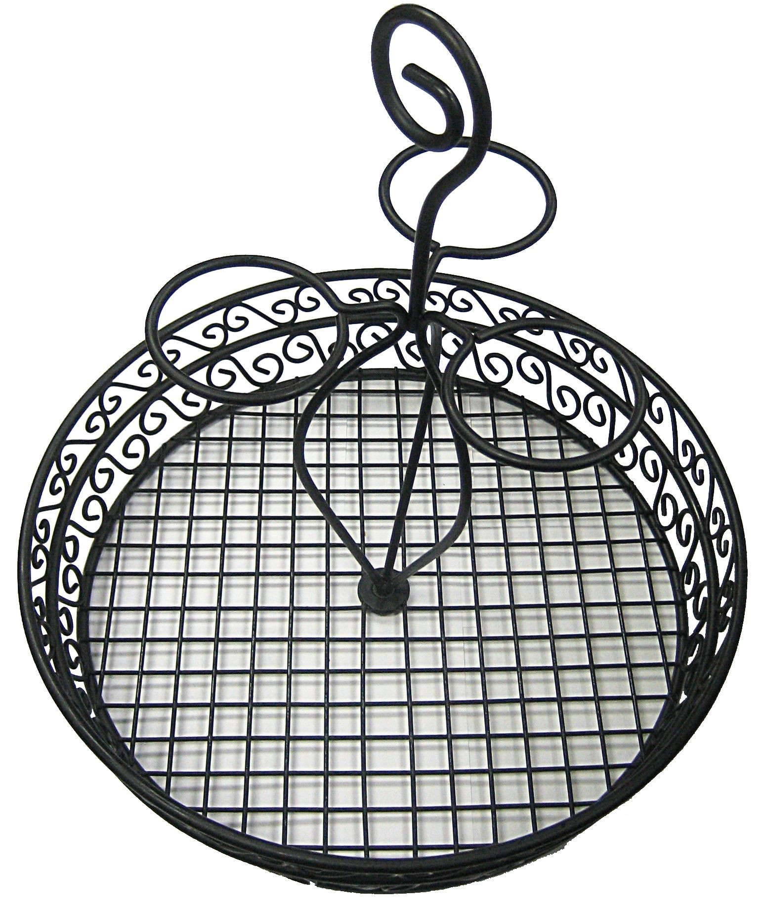"Winco wbkh-12 Round Black Wire Condiment Caddy 12"" x 13"""
