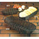 "TableCraft 2417 Black Handwoven Oblong Basket 9"" x 3-1/2"" x 2"""