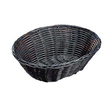 Black Woven Polypropylene Cord Oval Basket - 9