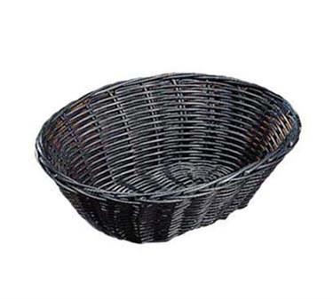 "TableCraft 2474 Black Handwoven Oval Basket 9"" x 6"" x 2-1/4"""