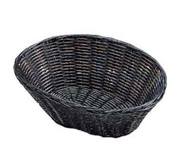 "TableCraft 2476 Black Handwoven Oval Basket 10"" x 6-1/2"" x 3"""