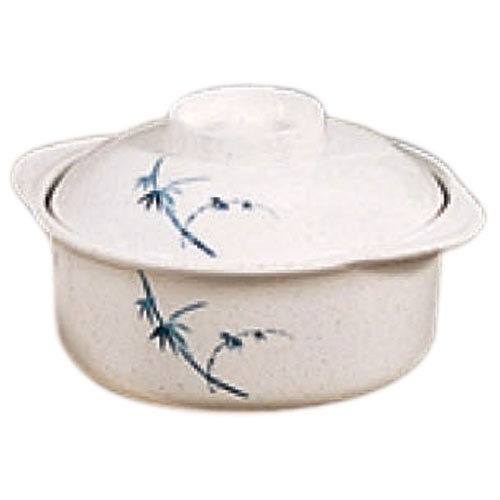 Thunder Group 3503BB Blue Bamboo Melamine Miso Bowl with Lid12 oz.