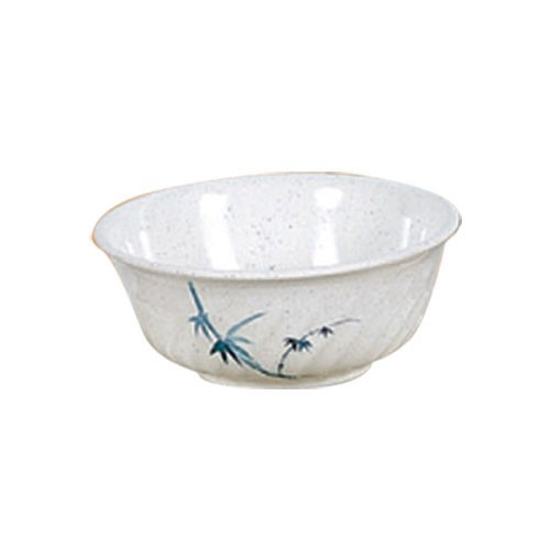Thunder Group 5306BB Blue Bamboo Melamine Swirl Bowl 21 oz.