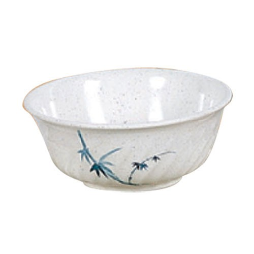 Blue Bamboo Melamine 45 Oz. Fluted Bowl - 7-4/5