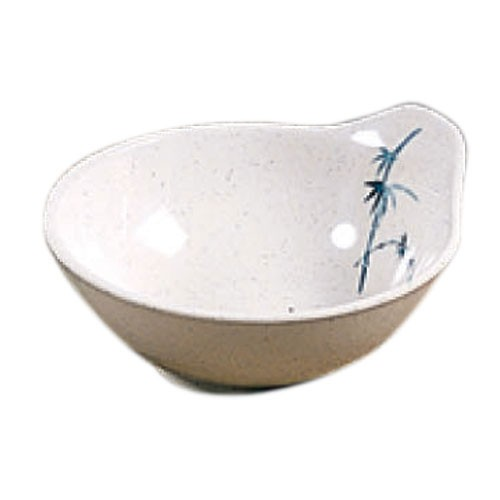 Thunder Group 3501BB Blue Bamboo Melamine Sauce Bowl 7 oz.