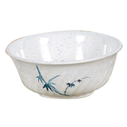 Thunder Group 5309BB Blue Bamboo Melamine Swirl Bowl 72 oz.