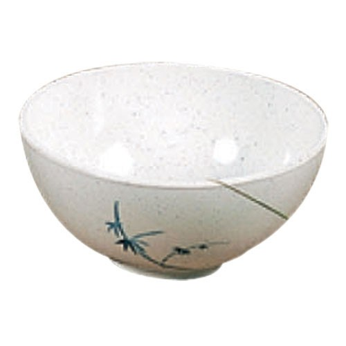 "Thunder Group 3006BB Blue Bamboo Melamine Rice Bowl 8 oz., 4-3/8"" Dia."
